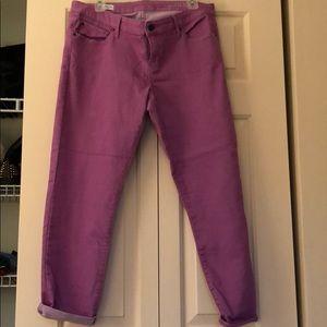 Colored jean capris
